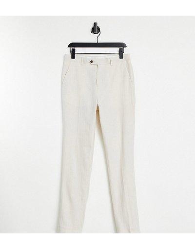 Novita Bianco uomo Pantaloni da abito slim corti in lino - Gianni Feraud Tall Wedding - Bianco