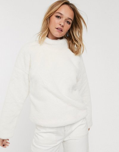 Bianco donna Maglione in ecopelliccia - Glamorous - Bianco
