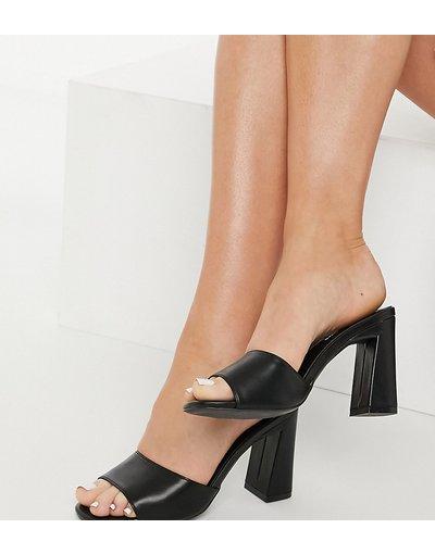 Sandali Nero donna Sabot con tacco neri - Glamorous Wide Fit - Nero