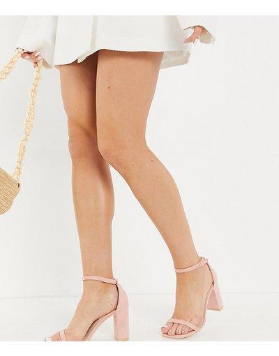 Sandali Rosa donna Sandali rosa cipria con tacco largo - Glamorous Wide Fit