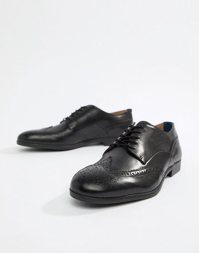 Nero uomo Scarpe stringate in pelle nere - H By Hudson - Aylesbury - Nero