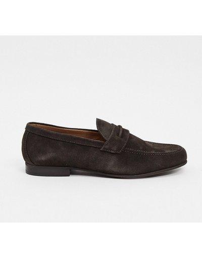 Scarpa elegante Marrone uomo Mocassini in camoscio marroni - H By Hudson - Hecker - Marrone