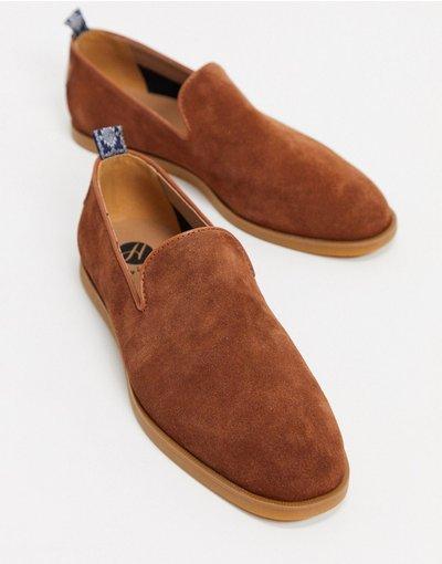 Scarpa elegante Cuoio uomo Mocassini color cuoio scamosciato - H By Hudson - Parker