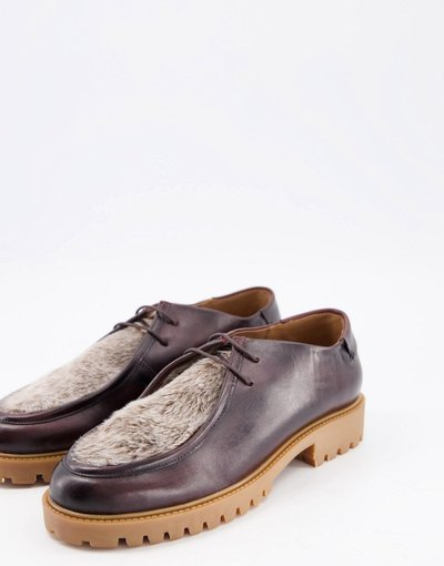 Novita Marrone uomo Scarpe in pelliccia sintetica marrone - H By Hudson - Sledge