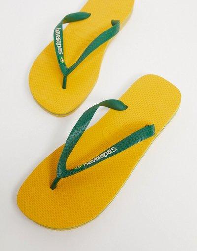 Novita Giallo uomo Infradito giallo e verde - Havaianas - Brasil