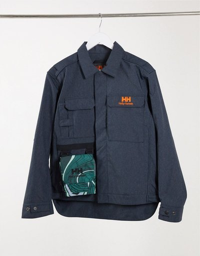 Blu navy donna Giacca unisex in denim blu navy - Helly Hansen - Heritage