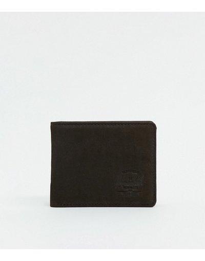 Portafoglio Marrone uomo Portafoglio in pelle marrone con protezione da RFID - Herschel Supply Co - Hank+