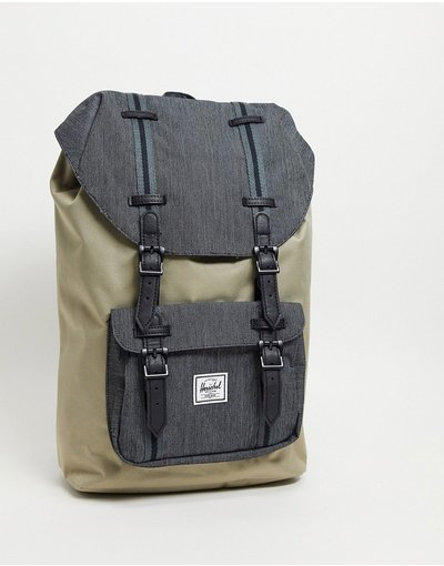 Borsa Beige uomo Zaino nero in grandezza media - Herschel Supply Co - Little America - Beige
