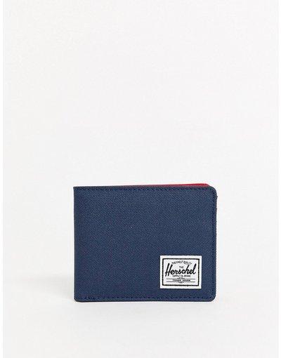 Portafoglio Navy uomo Portafoglio a libro blu navy con protezione da RFID - Herschel Supply Co - Roy