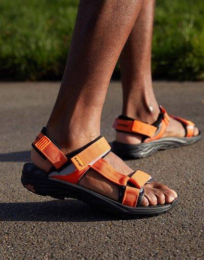Sandali Arancione uomo Sandali da trekking arancioni - Ula Raft - Arancione - Tec - Hi