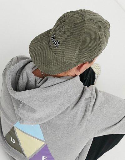 Cappello Verde uomo Berretto a 6 pannelli verde con logo - 1993 - HUF