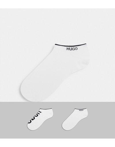 Calze Bianco uomo Confezione da 2 calzini sportivi bianchi con logo - Bianco - HUGO