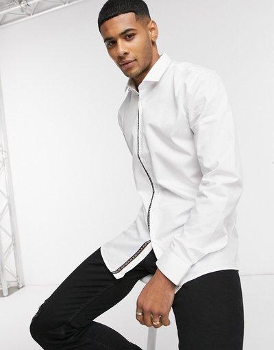 Camicia Bianco uomo Camicia extra slim in popeline di cotone stretch bianco - Erondo - HUGO