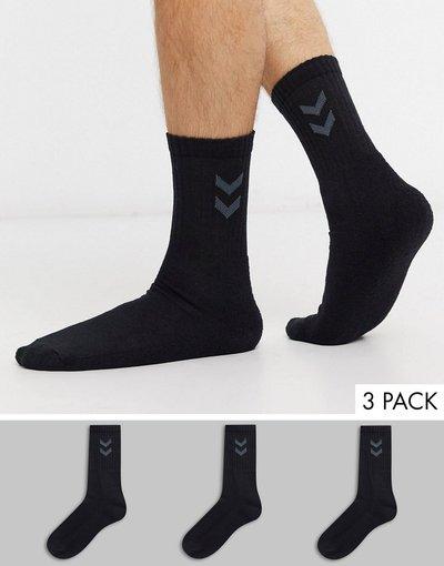 Calze Nero uomo Confezione da 3 calzini neri - Hummel - Nero