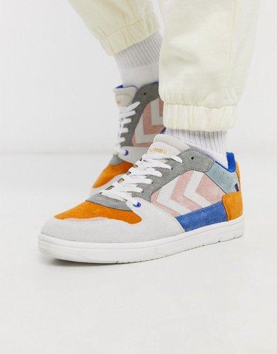 Sneackers Multicolore uomo Sneakers da ginnastica in camoscio multicolore - Hive Power Play - Hummel