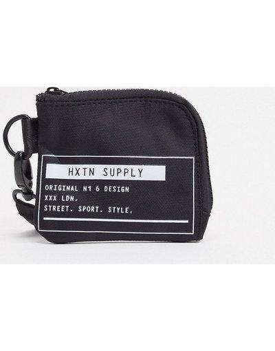 Portafoglio Nero uomo Taschino portamonete nero con stampa del logo - Supply Prime - HXTN