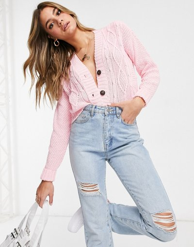 Rosa donna Cardigan rosa con bottoni - I Saw It First