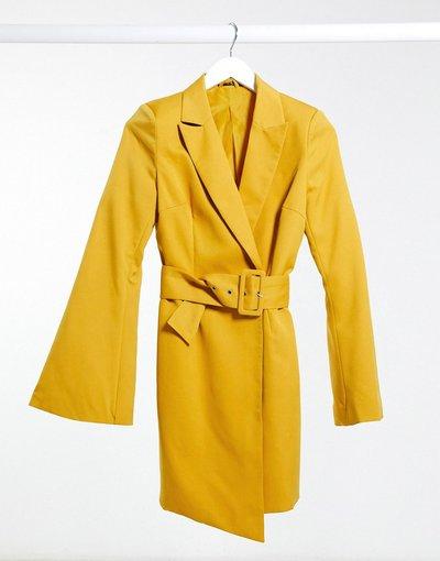 Giallo donna Vestito a blazer giallo con cintura - I Saw It First