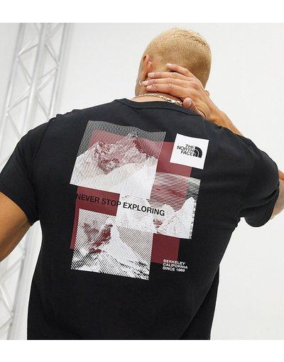 T-shirt Nero uomo In esclusiva per ASOS - The North Face - Stripe Mix - shirt nera - Nero - T