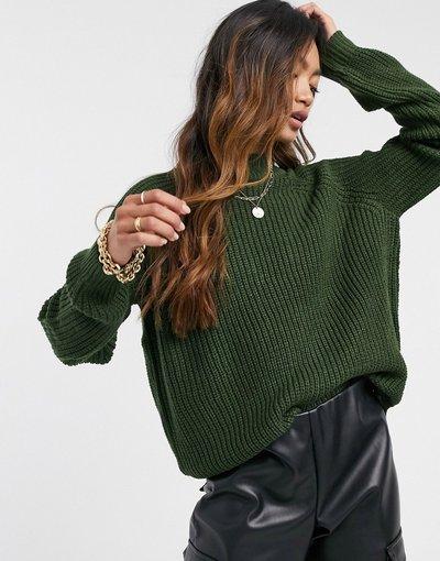 Verde donna Maglione accollato verde scuro - In esclusiva Vero Moda