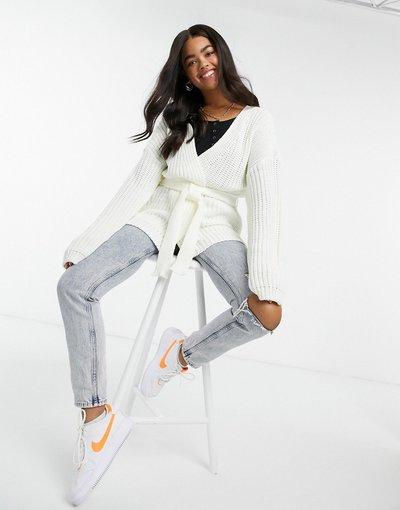 Bianco donna Cardigan con maniche ampie bianco - In The Style x Billie Faiers