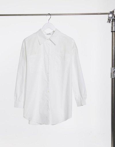 Camicia Bianco donna In The Style x Megan Mckenna - Camicia lunga bianca - Bianco