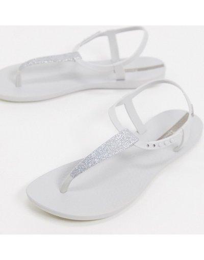 Infradito Bianco donna Sandali bassi pop glitterati bianchi - Ipanema - Bianco
