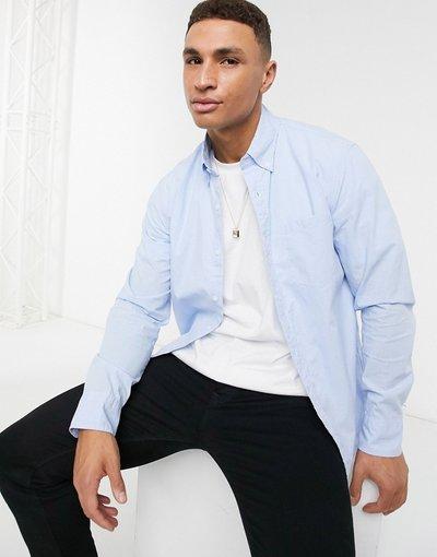 Camicia a maniche lunghe con mini quadretti slavata - J. Crew - Blu  uomo Blu