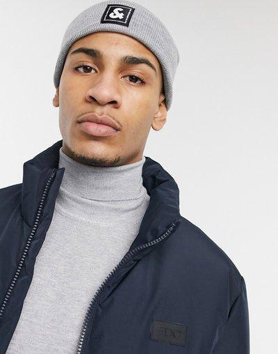 Cappello Nero uomo Berretto grigio con logo - Jack&Jones - Nero