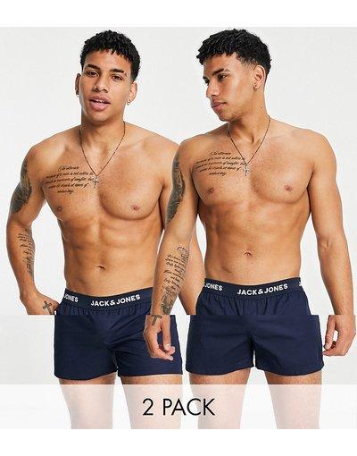 Intimo Blu navy uomo Confezione da 2 paia di boxer blu navy - Jack&Jones
