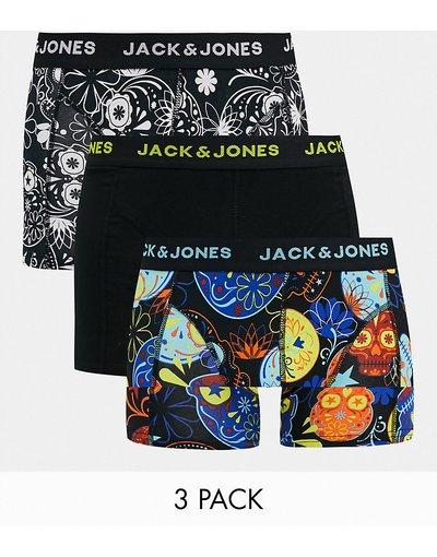 Intimo Multicolore uomo Confezione da 3 boxer aderenti con stampa di teschi - Jack&Jones - Multicolore