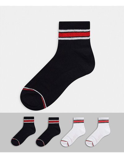 Calze Multicolore uomo Confezione da 4 paia di calzini corti da tennis multi - Jack&Jones - Multicolore
