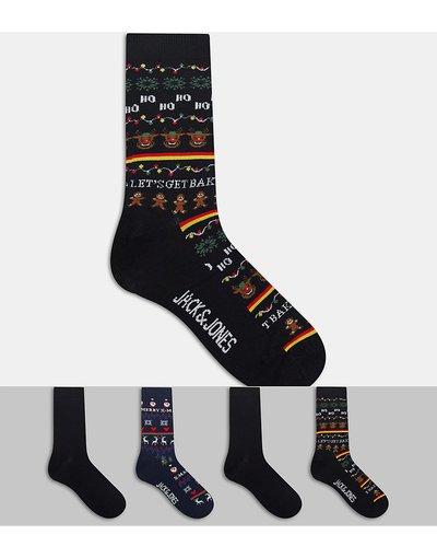 Intimo Multicolore uomo Confezione da 4 paia di calzini natalizi multicolore - Jack&Jones