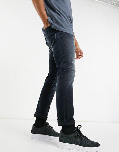 Jeans Blu uomo Jeans super slim elasticizzati e affusolati blu nero - Jack&Jones Intelligence - Glenn