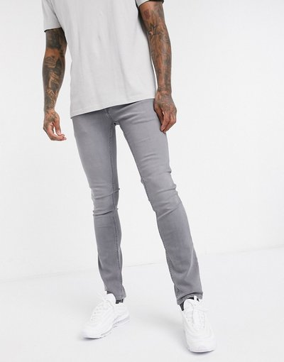 Jeans Grigio uomo Jeans super stretch skinny grigio chiaro - Jack&Jones Intelligence