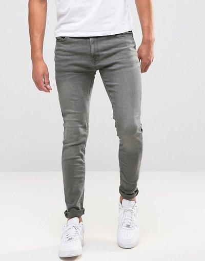 Jeans Grigio uomo Jeans skinny grigio slavato - Jack&Jones Intelligence - Liam
