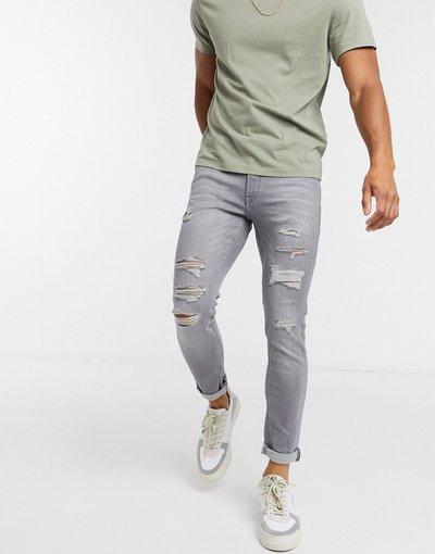 Jeans Grigio uomo Jeans skinny strappati grigio chiaro - Jack&Jones Intelligence - Liam