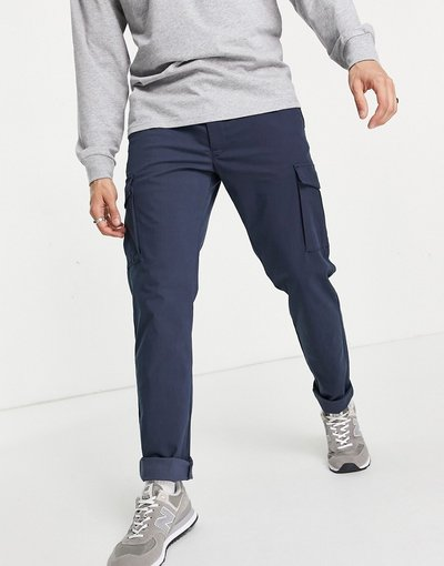 Blu navy uomo Pantaloni cargo slim eleganti blu navy - Jack&Jones Intelligence