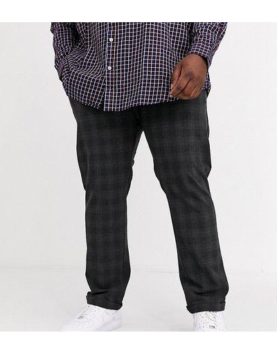 Pantalone Grigio uomo Pantaloni slim a quadri grigi - Jack&Jones Intelligence - Grigio