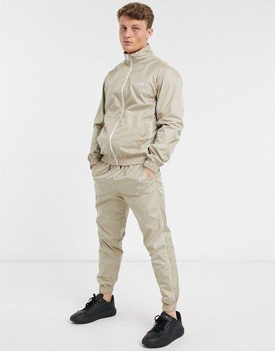 Novita Beige uomo Tuta sportiva con profili a contrasto, colore beige - Intelligence - Jack&Jones
