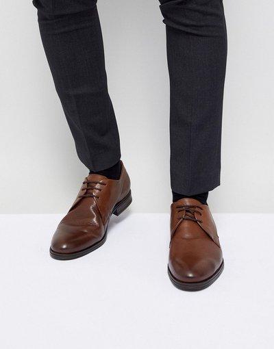 Scarpa elegante Marrone uomo Scarpe derby in pelle marroni - Jack&Jones Premium - Marrone