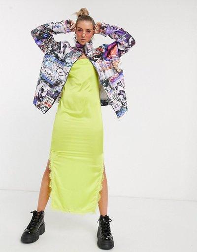 Multicolore donna Giacca trapuntata oversize con stampa - Jaded London - Multicolore