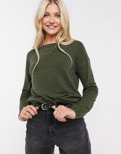 Verde donna Maglione lavorato a maniche lunghe verde bosco - GADOT - JDY