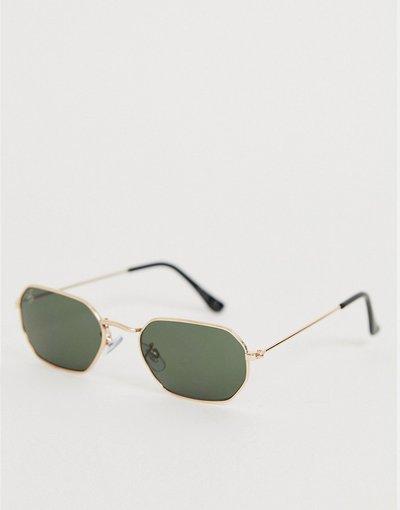 Occhiali Oro uomo Occhiali da sole esagonali color oro - Jeepers Peepers