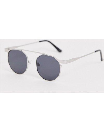 Occhiali Argento uomo Occhiali da sole rotondi argento - Jeepers Peepers