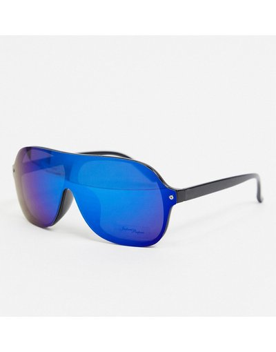 Occhiali Nero uomo Occhiali da sole rotondi con lenti nere/blu - Jeepers Peepers - Nero