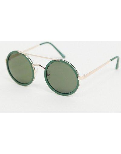 Occhiali Verde uomo Occhiali da sole verdi rotondi - Jeepers Peepers - Verde