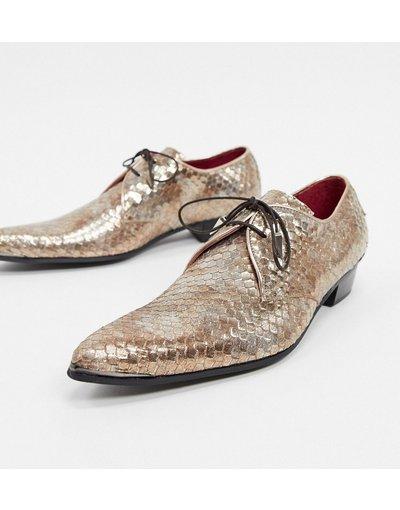 Scarpa elegante Oro uomo Scarpe oro pitonato - Jeffery West - Adamant
