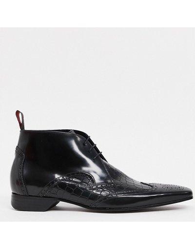 Scarpa elegante Nero uomo Stivaletti stringati neri - Jeffery West - Escobar - Nero