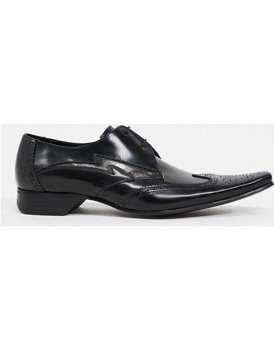 Scarpa elegante Nero uomo Scarpe stringate nere - Pino Lighting Bolt - Jeffery West - Nero